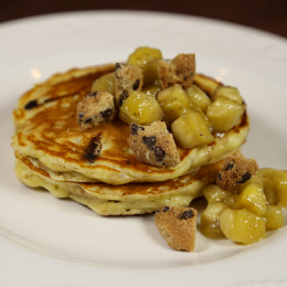 Banana Pancakes made with  Mini CHIPS AHOY! Cookies